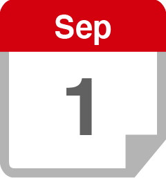 A calendar showing September 1st