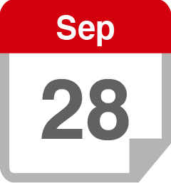 A calendar showing September 28th